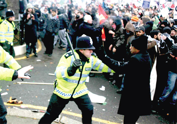 Muslims impressively embodied the spirit of social solidarity during British riots
